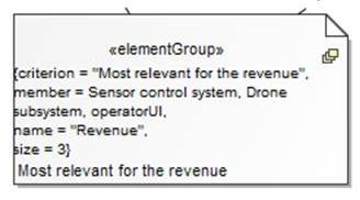 SysML 1.4 ElementGroup